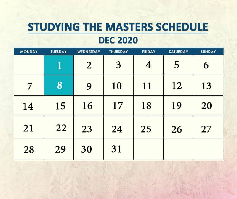 Studying the Masters Dec 2020