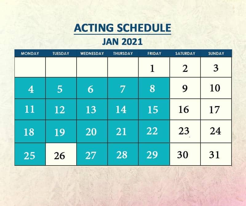 Acting Jan 2021