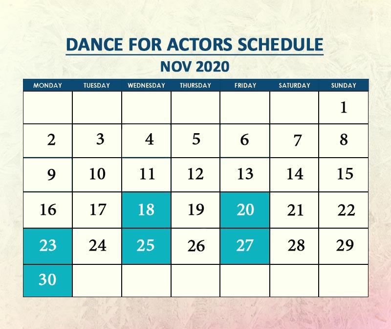 Dance for Actors Nov 2020