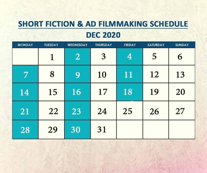 Short Fiction & AD Filmmaking Dec 2020
