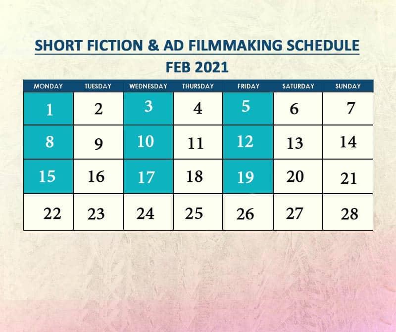 Short Fiction & Ad Filmmaking Feb 2021