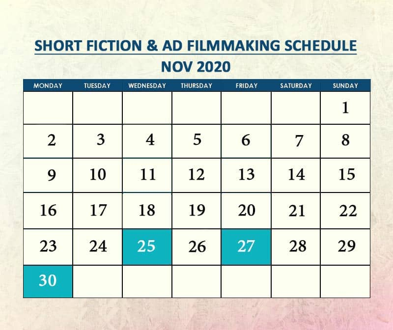Short Fiction & AD Filmmaking Nov 2020