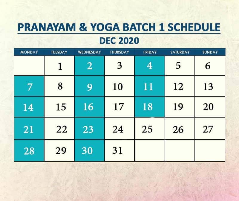 Yoga Batch 1 Dec 2020