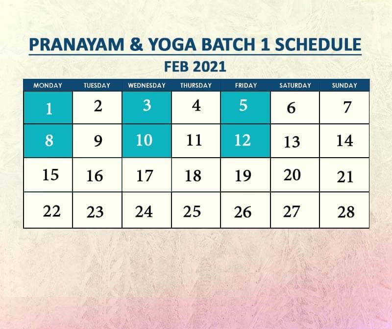 Yoga Batch 1 Feb 2021