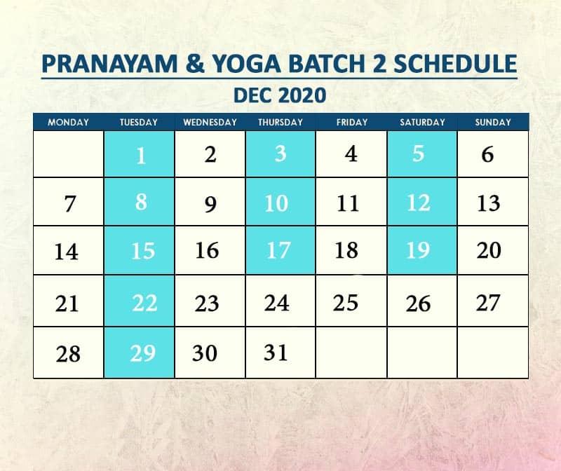 Yoga Batch 2 Dec 2020