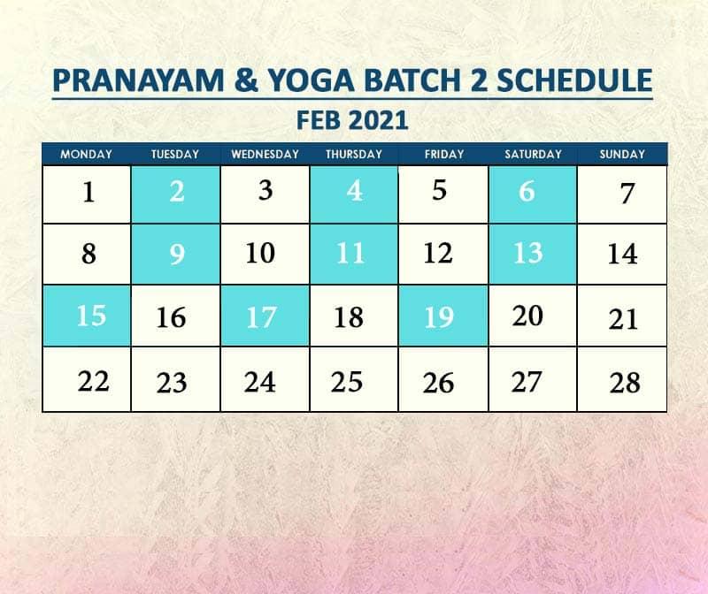 Yoga Batch 2 Feb 2021