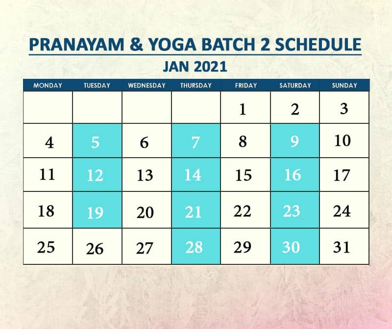 Yoga Batch 2 Jan 2021