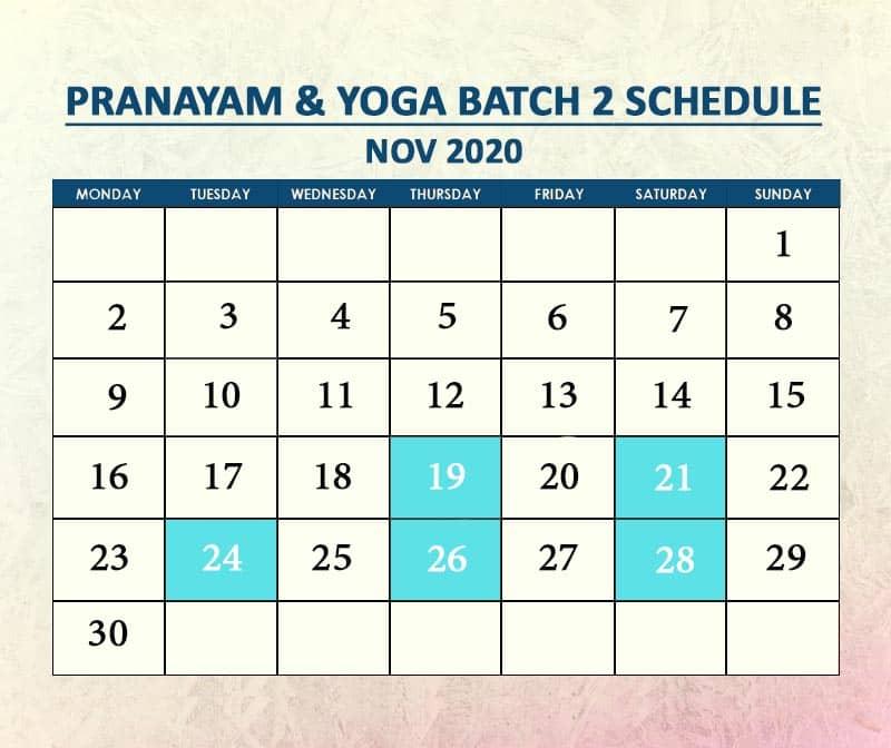 Yoga Batch 2 Nov 2020