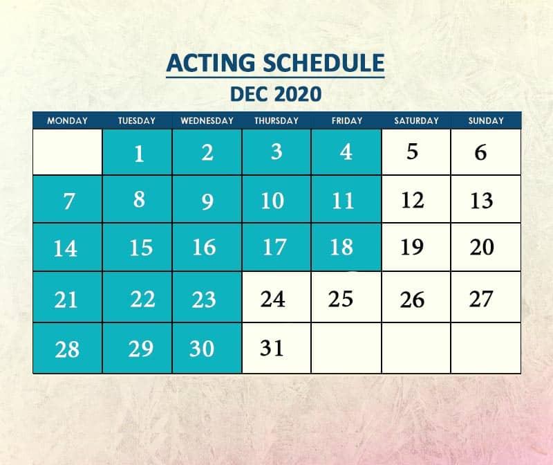 Acting Dec 2020