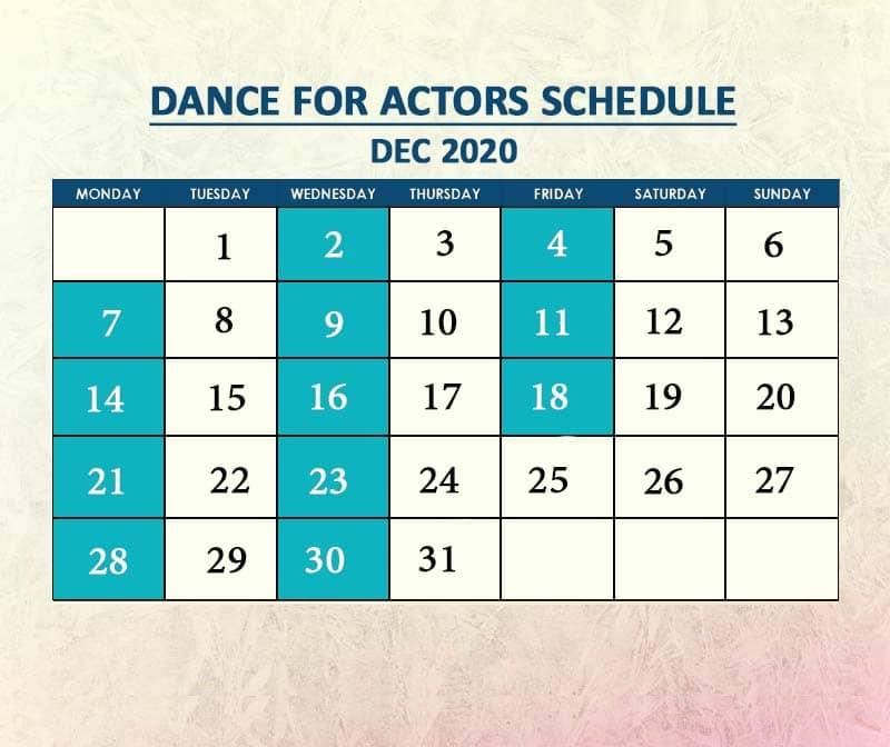 Dance for Actors Dec 2020