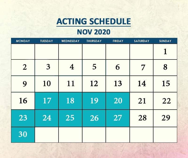 Acting Nov 2020