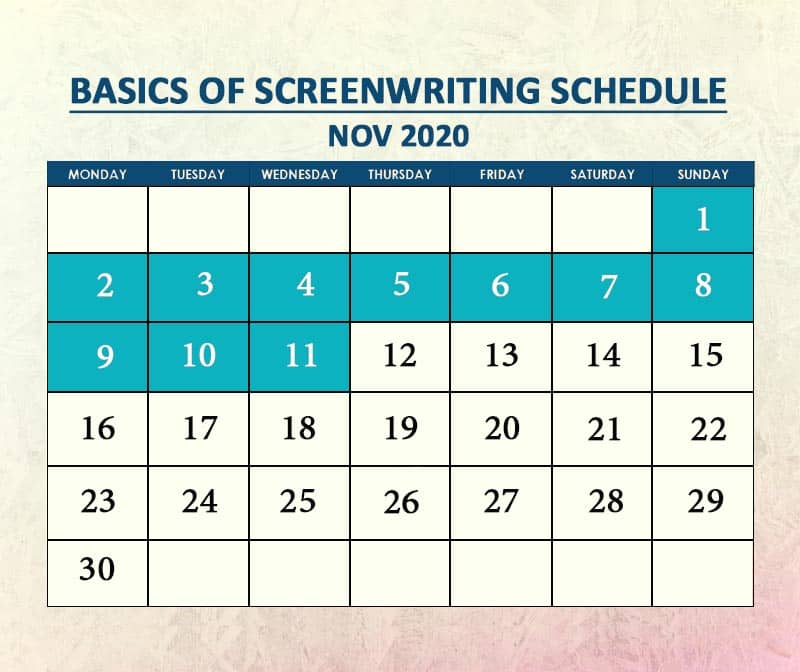 Basics of Screenwriting Nov 2020