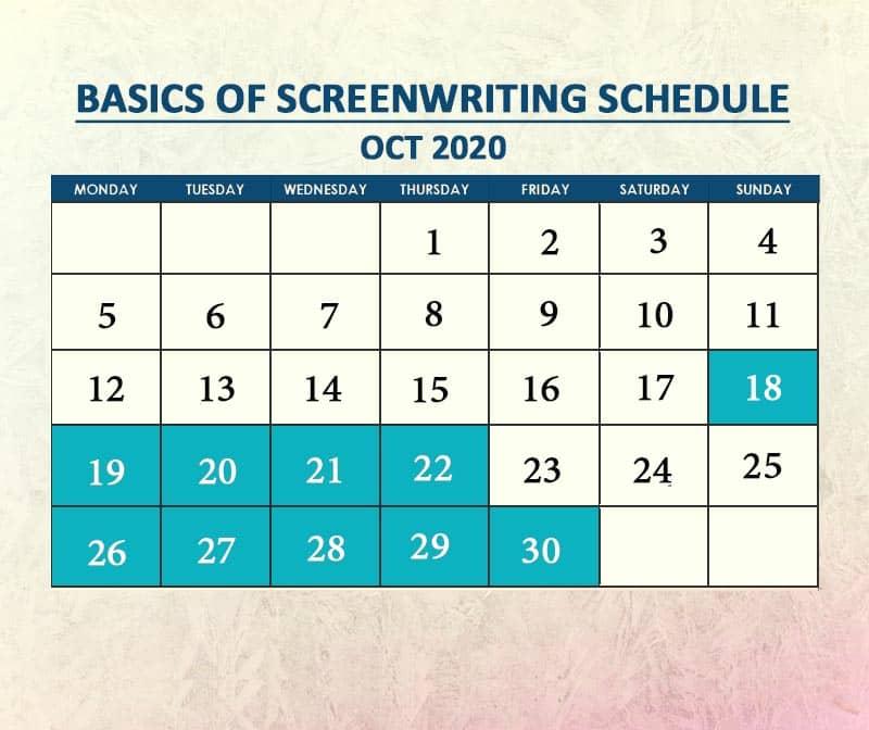 Basics of Screenwriting Oct 2020