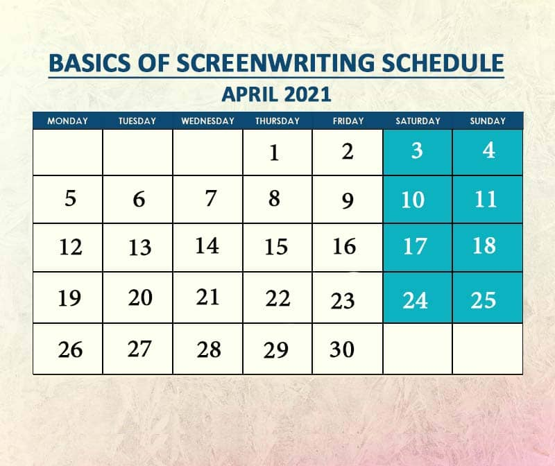 Basics of Screenwriting Batch 2 April 2021