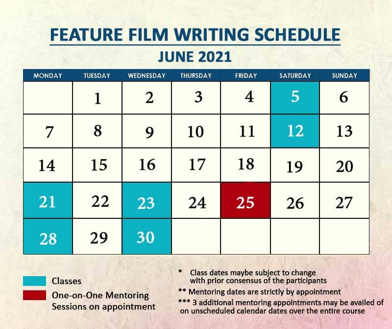 Feature Film Writing June 2021