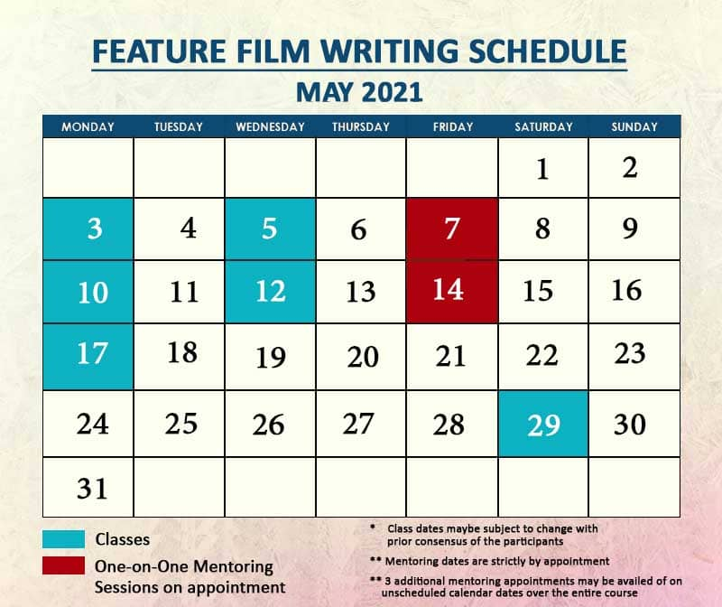 Feature Film Writing May 2021