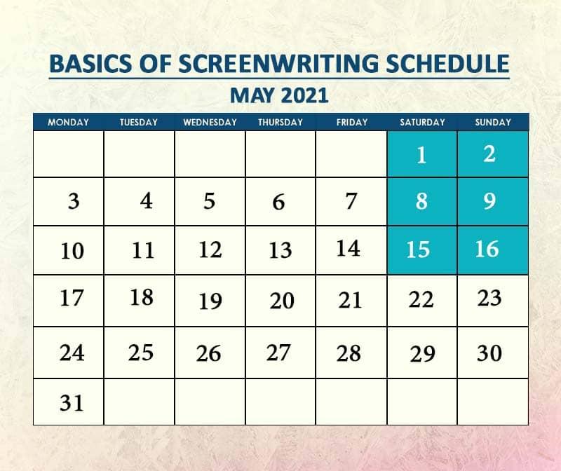 Basics of Screenwriting Batch 2 May 2021