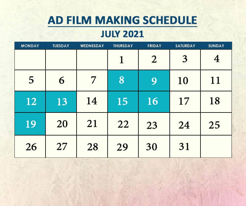 Ad Filmmaking July 2021