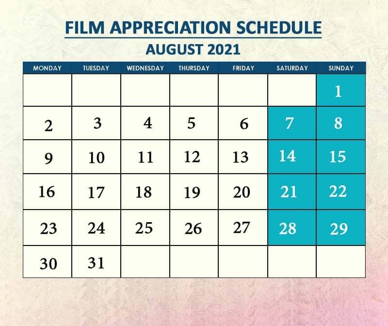 Film Appreciation August 2021