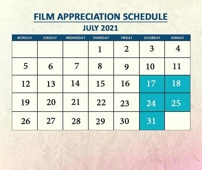 Film Appreciation July 2021