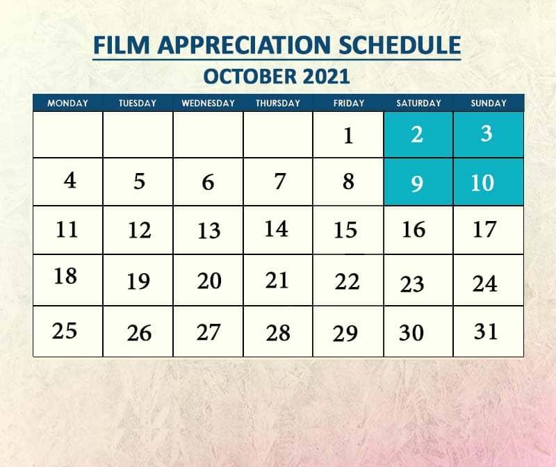 Film Appreciation October 2021