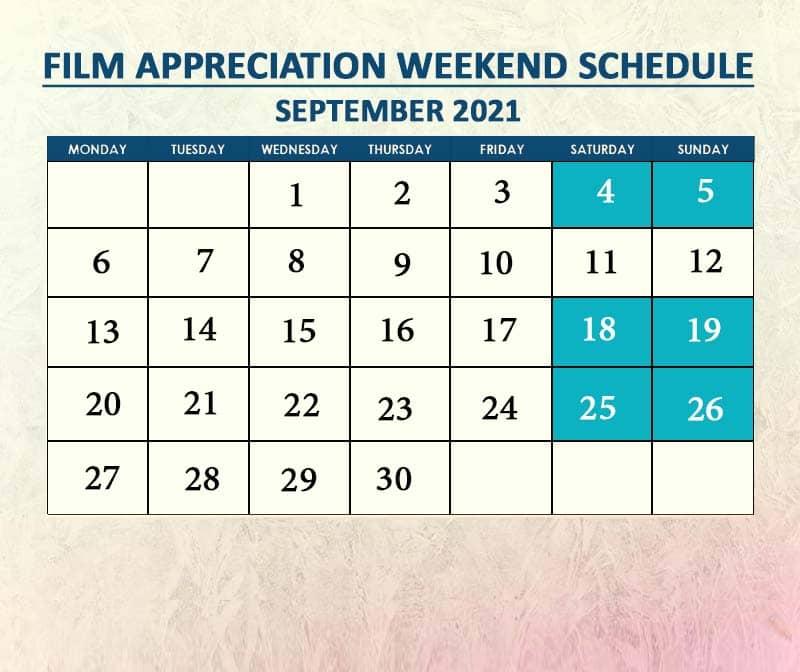 Film Appreciation September 2021