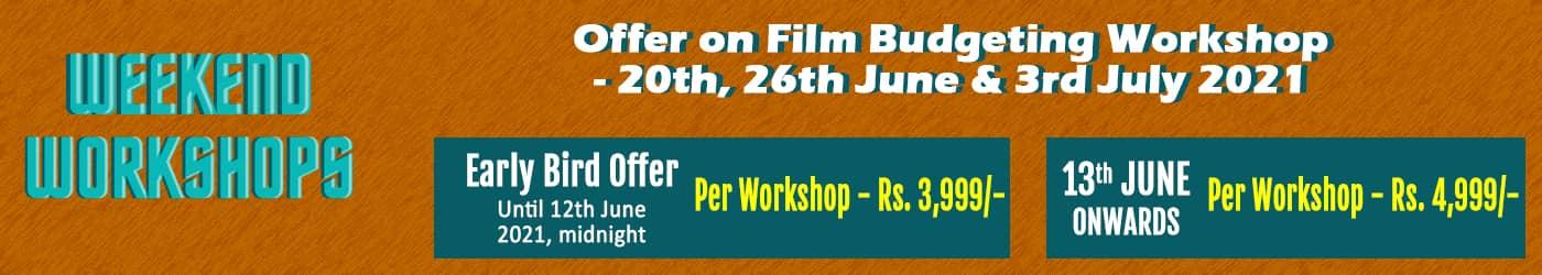 Weekend Workshop Film Budgeting Banner